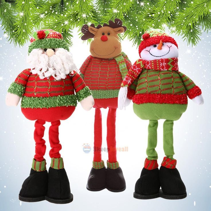 #Santa claus snowman #reindeer doll toy christmas tree #decor standing ornament ,  View more on the LINK: http://www.zeppy.io/product/gb/2/112164016831/