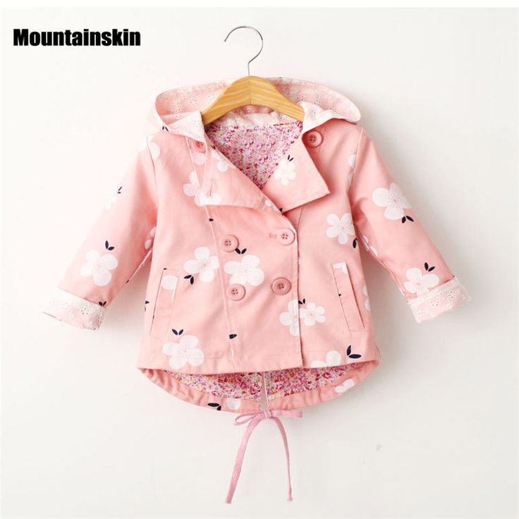 Mountainskin Children's Jacket Girls Outwear Casual Hooded Coats Girls Jackets School 2-8Y Baby Kids Trench Spring Autumn SC808 #Affiliate