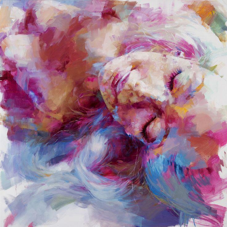 """Τα περισσότερα έργα τέχνης του εστιάζουν στην γυναικεία ομορφιά! Saatchi Online Artist: Peihang Huang; Oil, Painting """"Mad World 2"""
