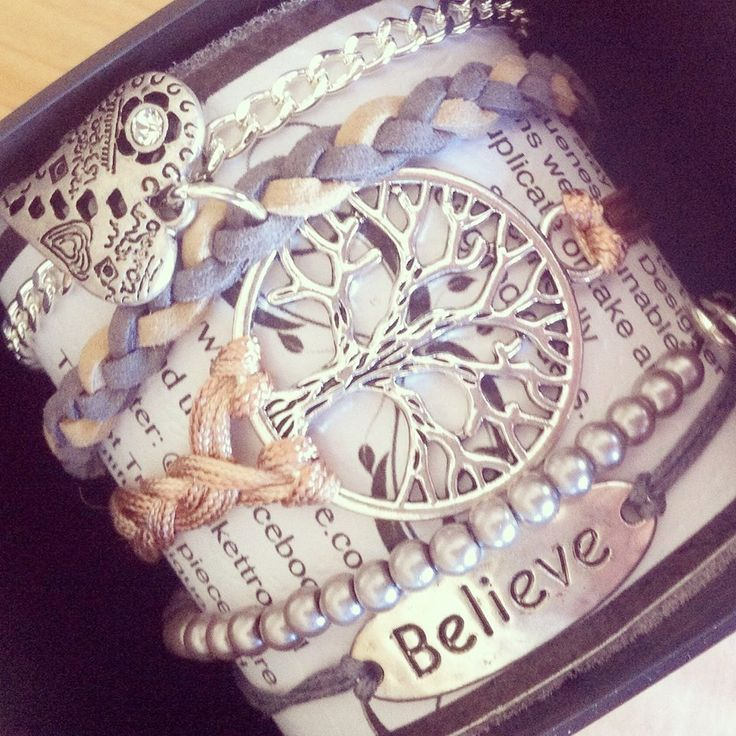 Wrap Bracelets available in a wide range of colours and styles.