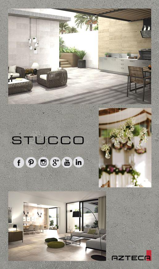 Dale un nuevo estilo a tu terraza con la serie Stucco 3060NR #terrazas #estilo #exteriores #reformas #ideas #tiles #style #ceramica #aztecaceramica #exteriordesign