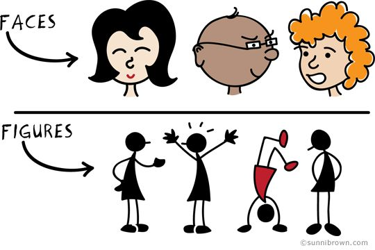 Doodling faces and figures helps to create a meaningful visual landscape and lets you tease your coworkers.