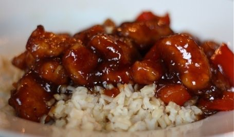 Pei Wei sesame chicken recipe. And it's GF if your soy and hoisin sauce are.