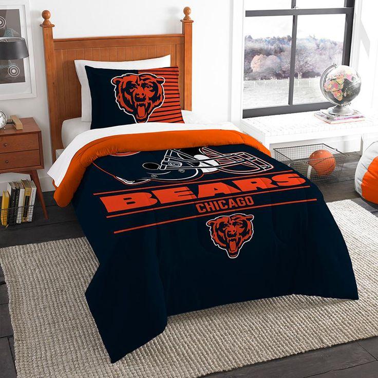 "Chicago Bears Nfl Twin Comforter Set (draft Series) (64"" X 86"")"