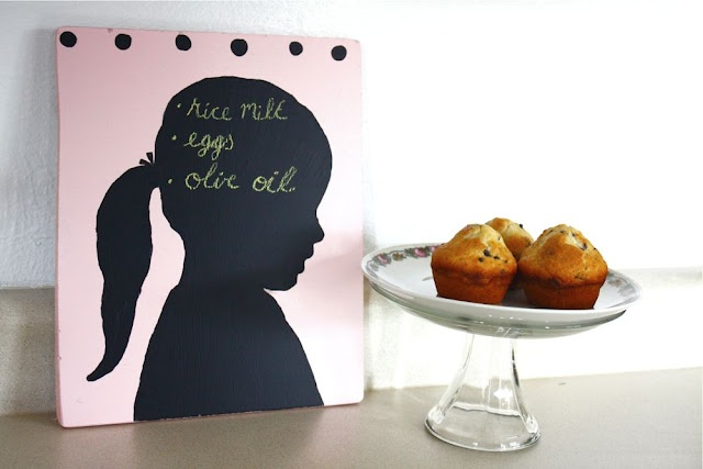 Mother's Day Gifts: DIY Silhouette Chalkboard