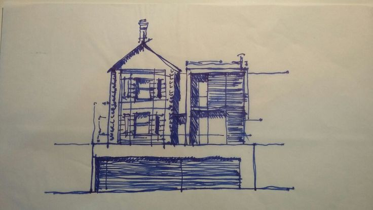The Grove first conceptual sketches #architecture #designstudio #commercial #frankbohmstudio