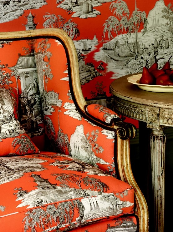 Luscious style Chinoiserie furniture wallpaper fabric