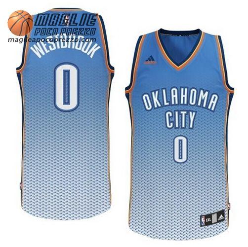 Canotte Nba Risuonare Moda Swingman Westbrook #0 Blu Oklahoma City Thunder  €22.9