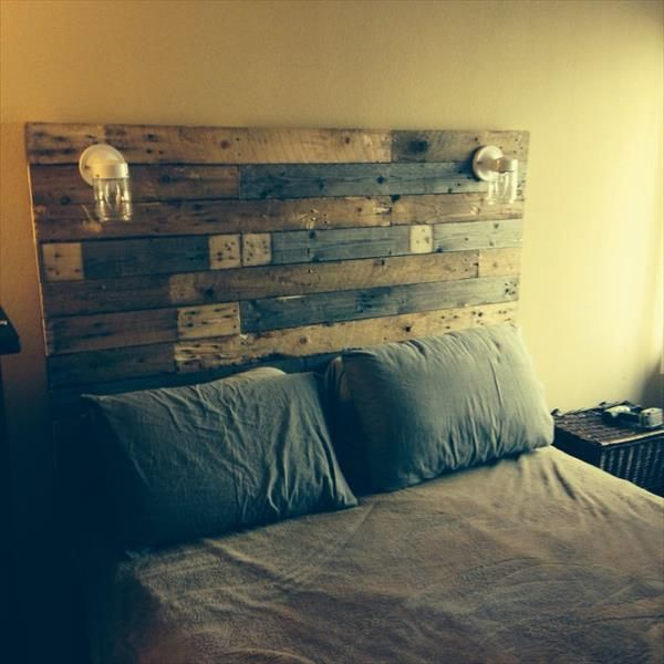 40 Recycled DIY Pallet Headboard Ideas   99 Pallets