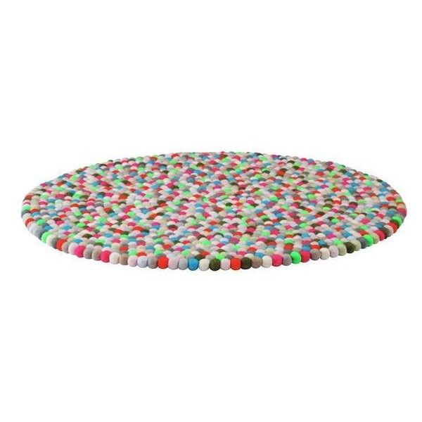 HAY Pinocchio Rug ($255) ❤ Liked On Polyvore Featuring Home, Rugs, Round