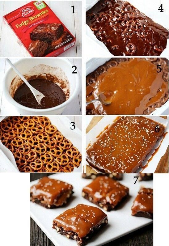 Salted Pretzel Caramel Brownies sweets chocolate dessert diy bake pretzels brownies step by step pictorial tutorial recipe recipes diy recipes brownie recipes easy diy easy crafts diy ideas craft deas diy food diy desert