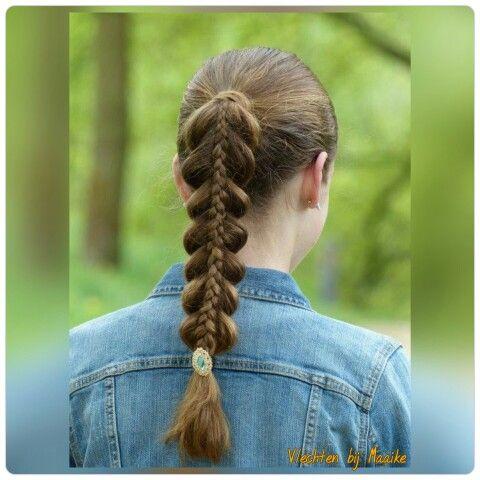 Vlecht op vlecht / stacked braid. Hairstylist www.mooibijmaaike.nl