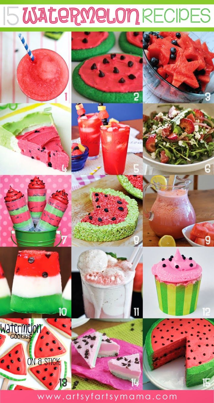Fabulous food based on the theme of 'watermelon'!