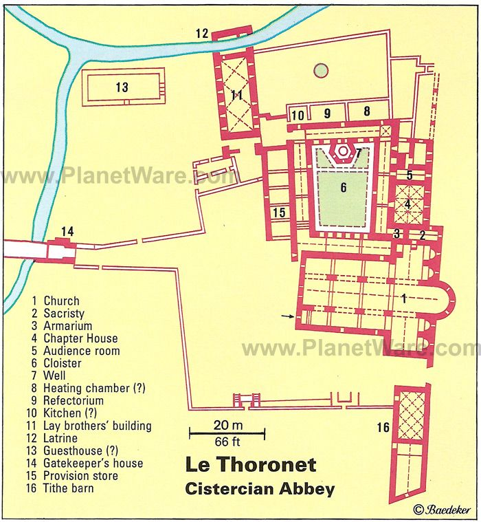 Map of Le Thoronet - Cistercian Abbey | PlanetWare