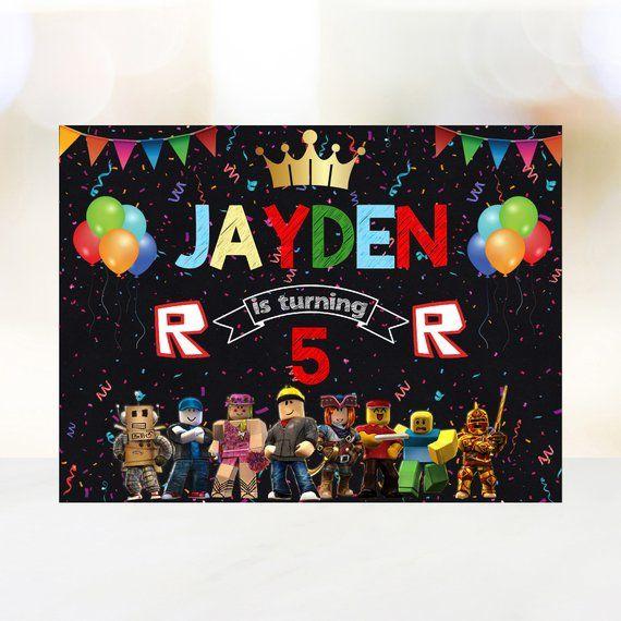 Roblox Birthday Backdrop Roblox Birthday Banner Roblox Party Banner Roblox Custom Banner Roblox