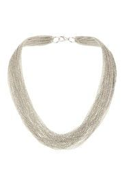 Silver Multirow Chain Necklace