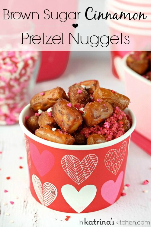 Sweet and Salty Brown Sugar Cinnamon Pretzel Nuggets