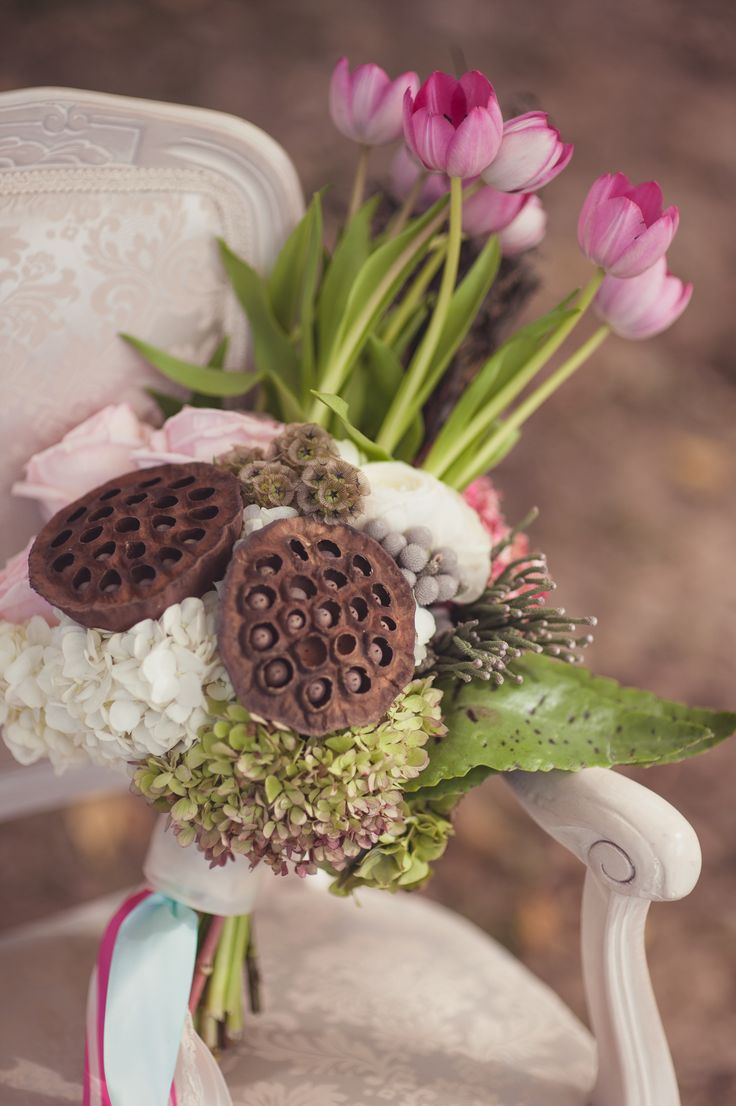 15 best feathers and flowers images on pinterest bridal rustic vintage wedding bouquet lotus blossoms tulips hydrangea simply bliss photography dhlflorist Image collections