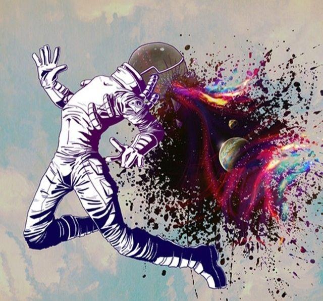 Небо - лишь клетка бОльших размеров, когда вселенная заточена в теле.