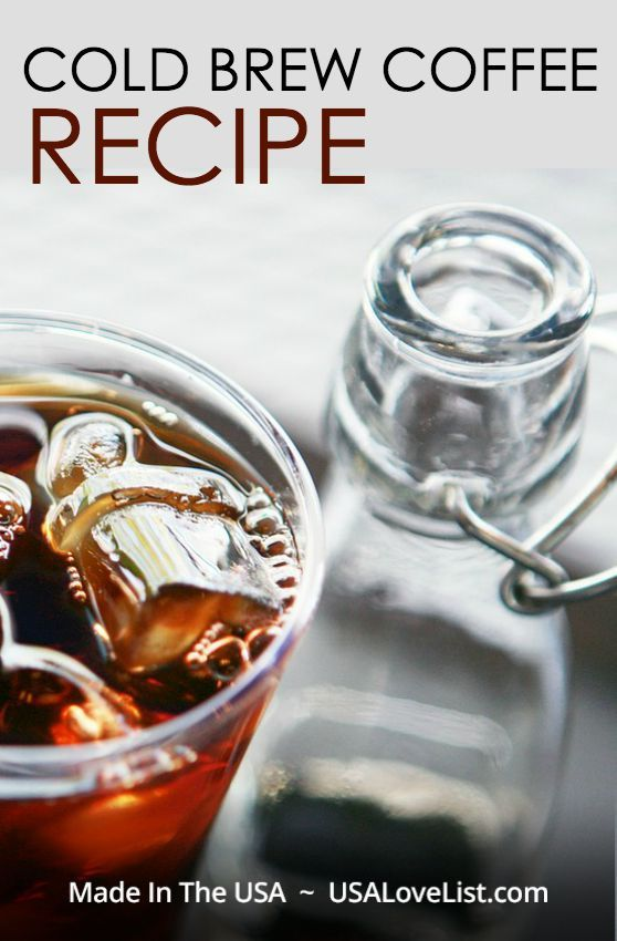 Easy Cold Brew Coffee Recipe plus how to make an iced latte ...