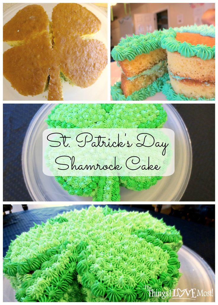 St. Patrick's Day Shamrock Cake - www.thethingsilovemost.com