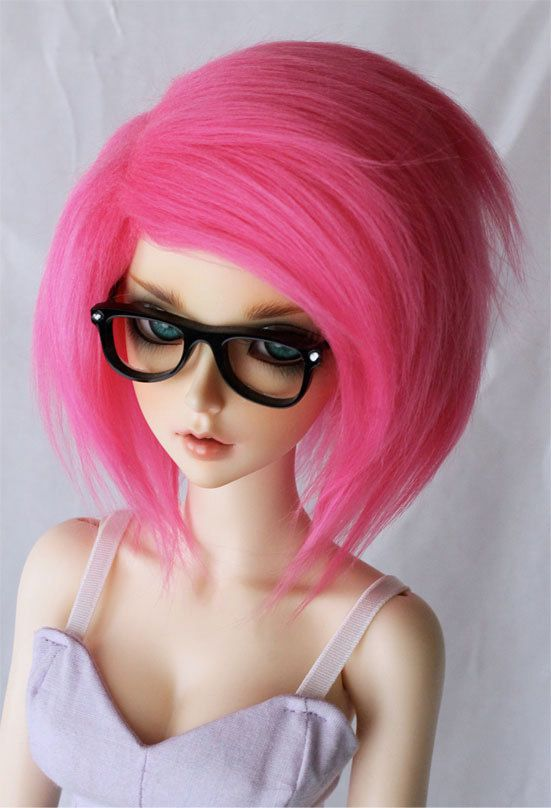 SD Hot pink wig Monstrodesigns by MonstroDesigns on Etsy