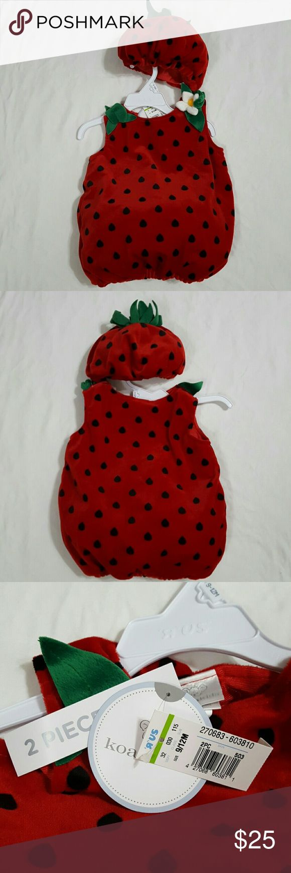 Baby strawberry costume Baby strawberry costume 9-12 months. Super cute! New with tags Koala Kids Costumes
