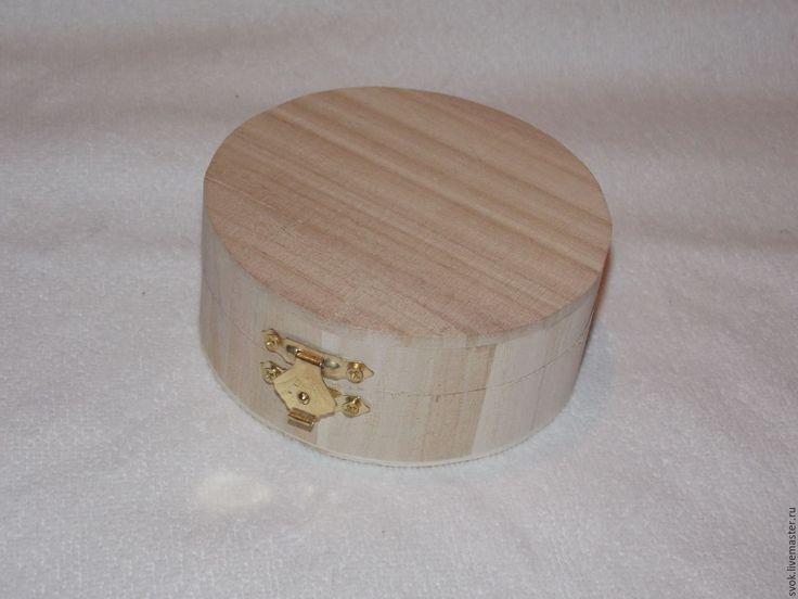 Купить Деревянная шкатулка круглая, заготовка - деревянная шкатулка, шкатудка, шкатулка декупаж, заготовка для декупажа