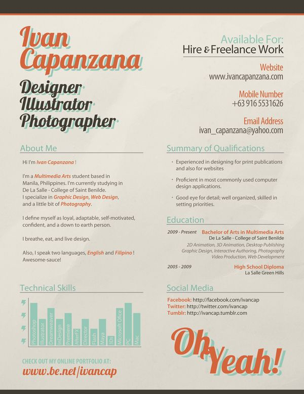 59 best Creative Resumes images on Pinterest Creative resume - online resume portfolio