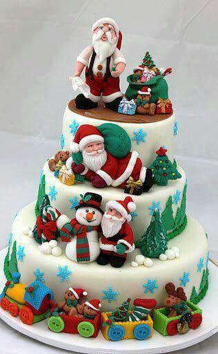 Tarta de Papa Noel
