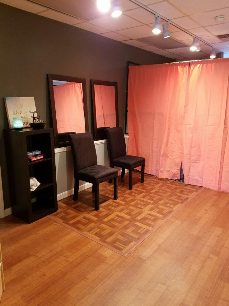 salon is almost done!my spray tan room!