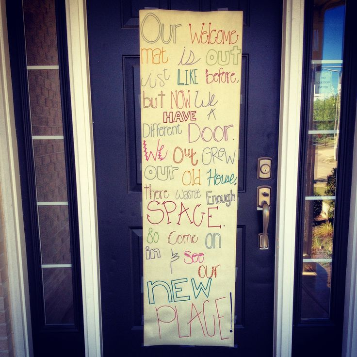 Housewarming Party decor- for the front door