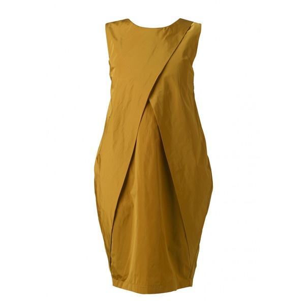 """Nubu Baggy Sleeveless Dress """"Dong"""" - Yellow ($135) ❤ liked on Polyvore: Dresses Dong, Sleeveless Dresses, Yellow 130, Nubu Baggy, Baggy Sleeveless, Yellow 135"""