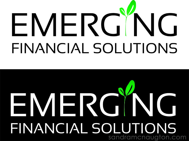 Logo I created for Emerging Financial Solutions.