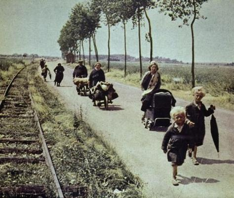 French refugees, 1940.