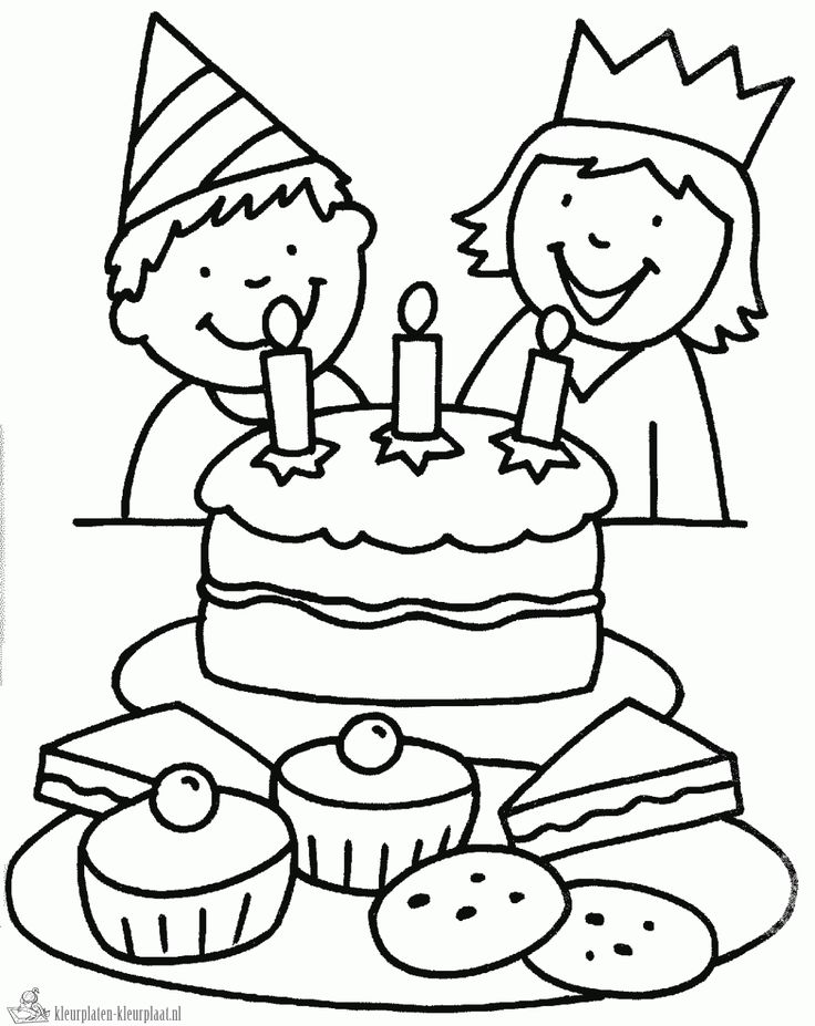 Kleurplaat verjaardag tweeling of jongen of meisje | #kleurplaat #tweeling…