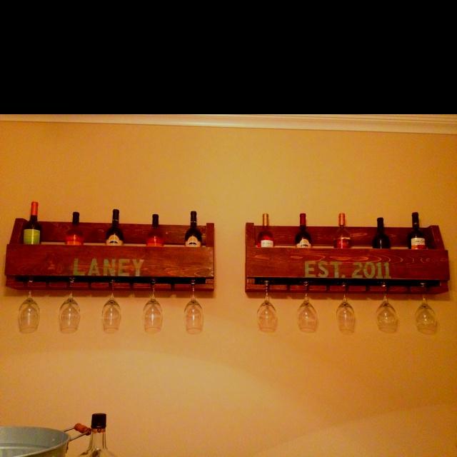 Homemade wine rack crafts pinterest homemade for Easy wine rack