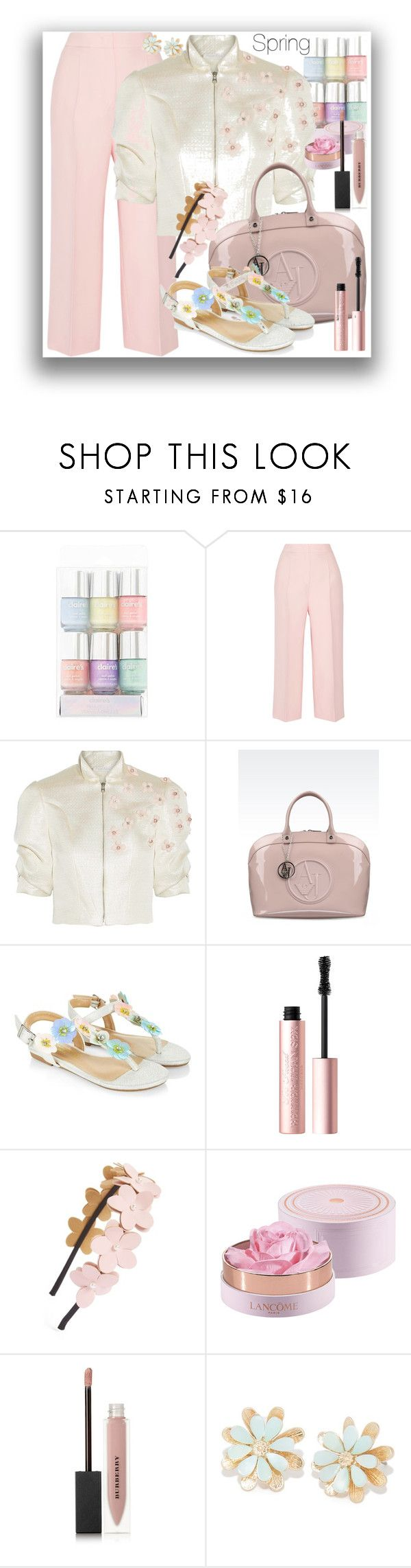 """""""Spring"""" by marionmeyer ❤ liked on Polyvore featuring Fendi, Reem Acra, Armani Jeans, Monsoon, Too Faced Cosmetics, Cara, Burberry and Spring"""