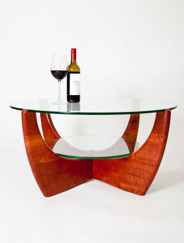 Handcrafted jarrah coffee table