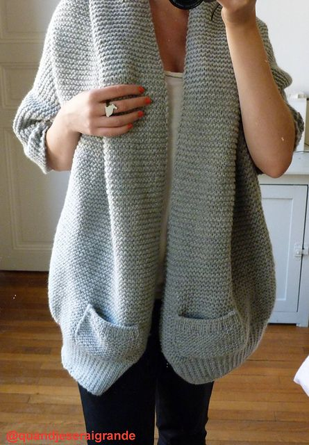 and easy to wear cardi with a FREE pattern in either French or English and downloaded via Ravelry. Obviously some adjustment for a machine would be required