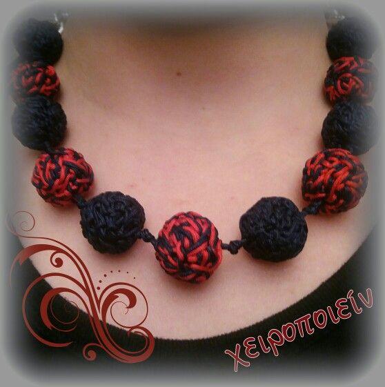Κολιέ πλεκτό με βελονάκι χειροποίητες χάντρες  Chroset necklace Χειροποίητα κοσμήματα