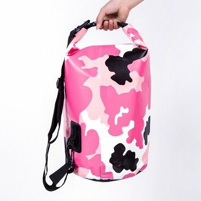1pc 20L Pink Camouflage Outdoor Waterproof Storage Bag Ultralight Drifting Rafting Canoe Camping Hiking Dry Bags Pouch 1724RB