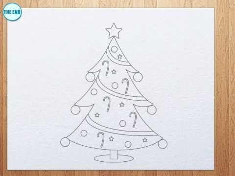 how to draw Christmas Tree | Kids Art Hub | Pinterest | Trees, Christmas trees and To draw