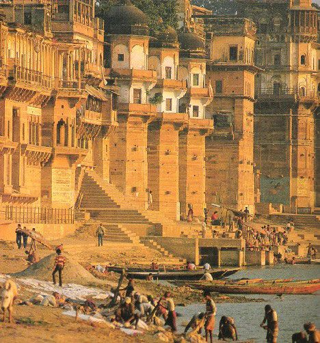 Varanasi, India - one of the oldest still-inhabited cites on Earth. This would make a good piece of framed art.