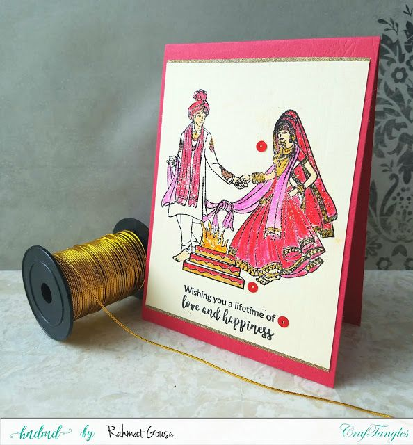 Indian wedding themed Cards - DT post CrafTangles