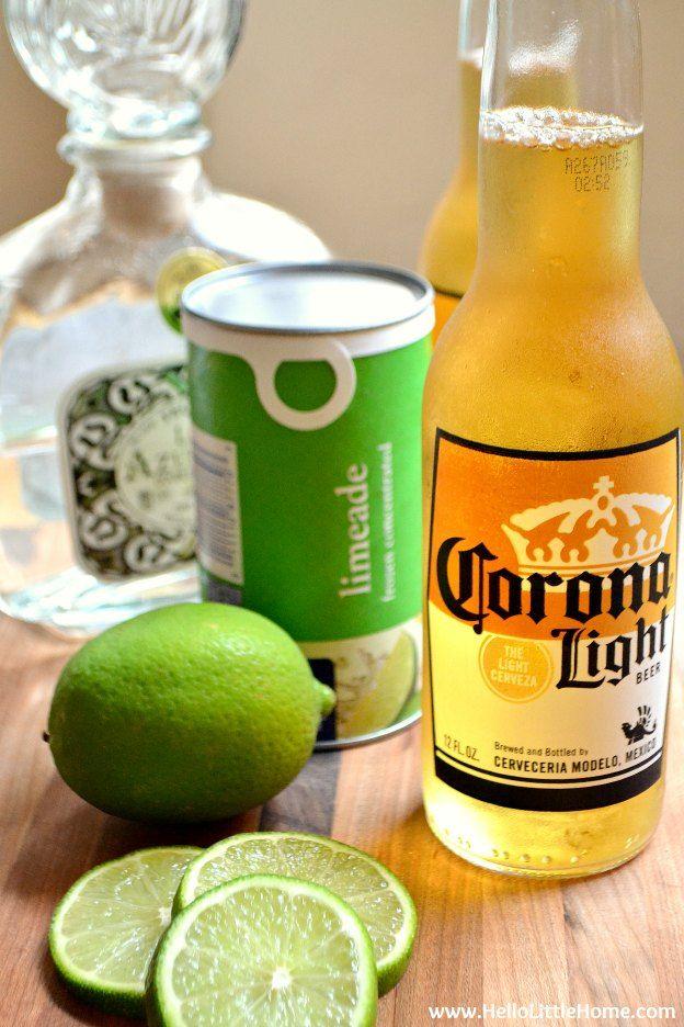Easy Beergaritas Recipe Recipe Beer Margarita Refreshing Beer Beer Cocktails