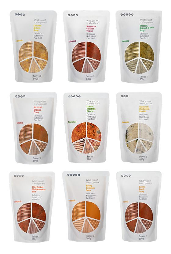 Dineamic packaging designed by Pigeon. Very clever food packaging design. Be sure and take a close look PD