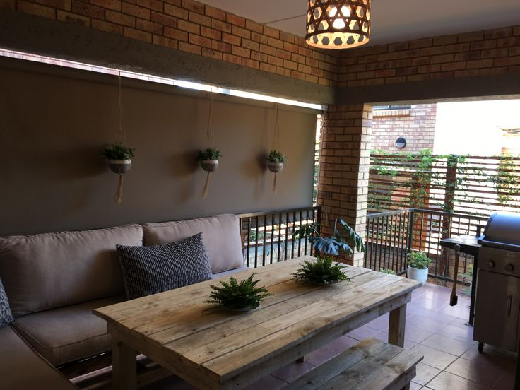 Completed DIY patio for a small townhouse area