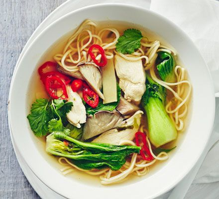 Cheat's chicken ramen: This speedy version of the classic Japanese noodle soup makes a delicious everyday dinner or warming lunch - and it's low in fat and calories too