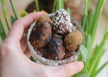 Råa ägg av renaste choklad